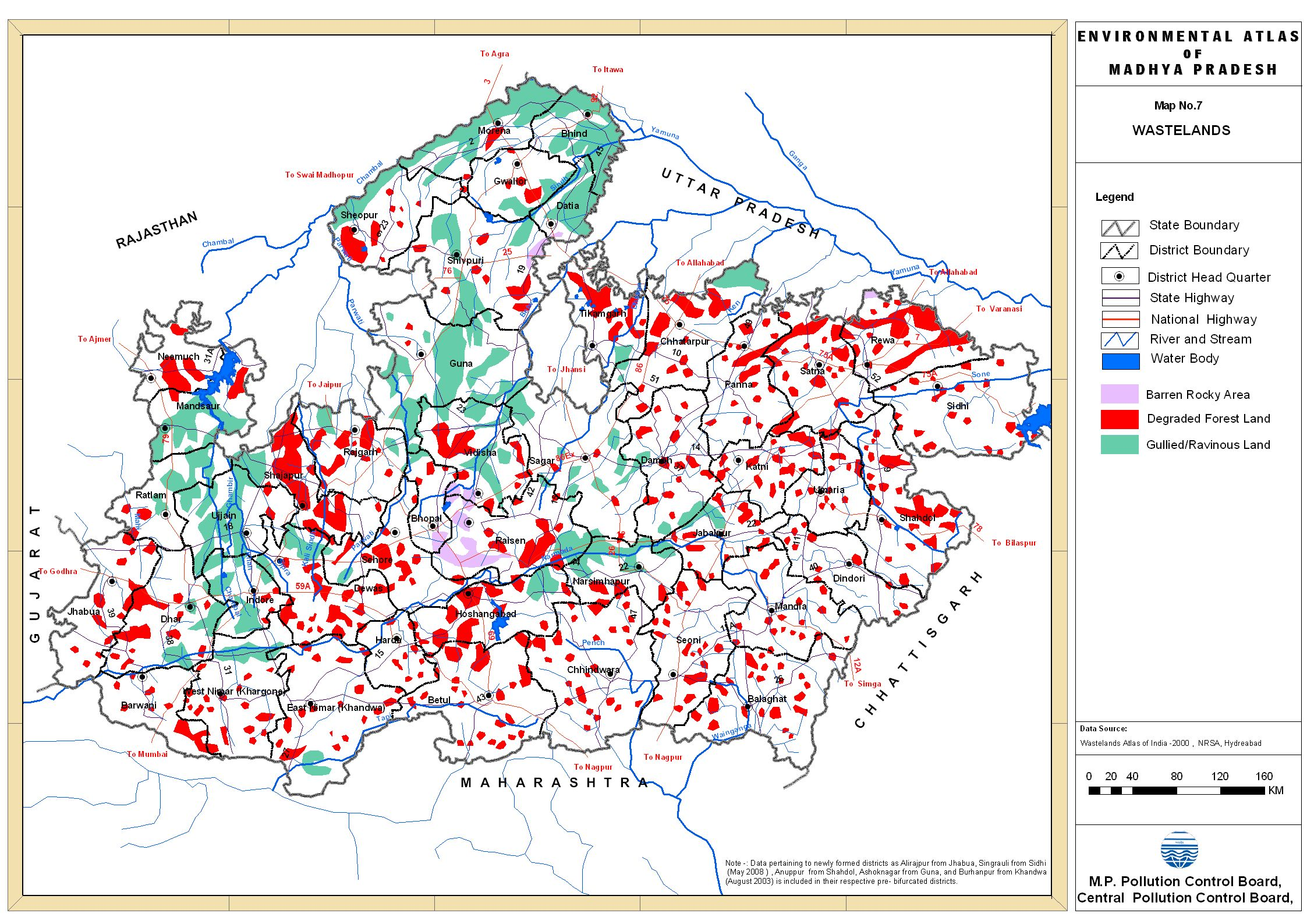 Maps of Madhya Pradesh  Maps of MP  GIS on MP  MP GIS  Madhya